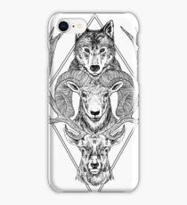 Wolf Ram Hart iPhone Case/Skin