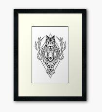Wolf Ram Hart Framed Print