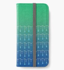 Droplets, Green and Blue iPhone Wallet/Case/Skin