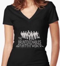 bruntouchables Women's Fitted V-Neck T-Shirt