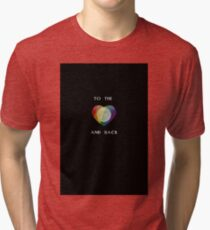 To the Moon Pride Heart Tri-blend T-Shirt