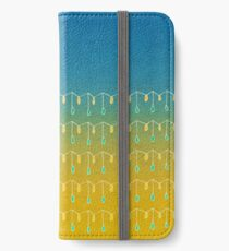 Droplets, Blue and Yellow iPhone Wallet/Case/Skin