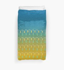 Droplets, Blue and Yellow Duvet Cover