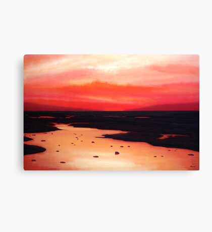 Earth Swamp Painting Canvas Print