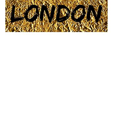 London - Gold and Black (T-shirt, Phone Case & more)  by RighteousOnix