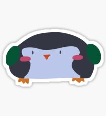 Wide Penguin Sticker