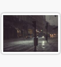 A Rainy Night In Lisbon. Sticker