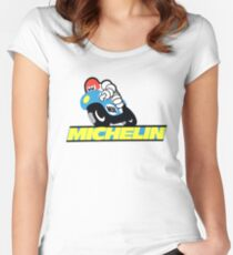 Vintage Michelin M38 Motorcycle Tire Women's Fitted Scoop T-Shirt
