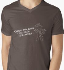 Garde ton rhum (inspiré par l'attraction Pirates de Caraïbes) - motifs sombres Men's V-Neck T-Shirt