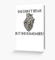 Lady Stoneheart, Game of Thrones Greeting Card