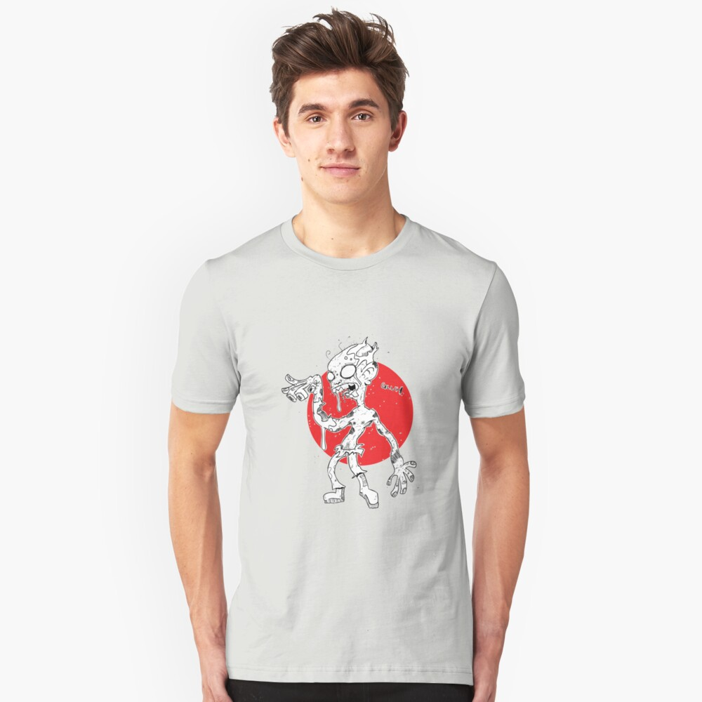 """""""GLUH"""" said the zombie. Unisex T-Shirt Front"""