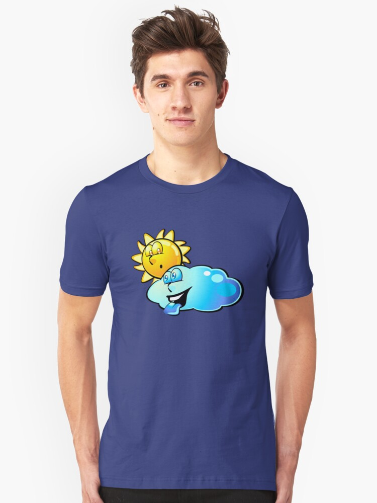 Sun and cloud - Funny cartoons Unisex T-Shirt Front