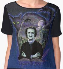 Edgar Allan Poe Gothic Chiffon Top