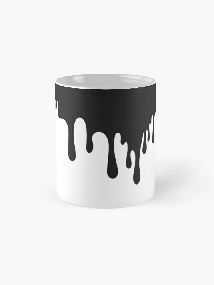 Quot Black Paint Drip Quot Mug By Laylooo Redbubble