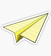 Paper Airplane 10 Sticker