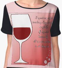 Cheap red wine Chiffon Top