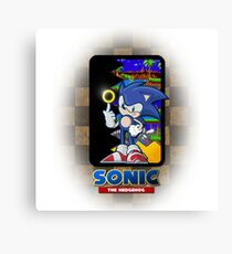 Sonic the hedgehog REMIX Canvas Print