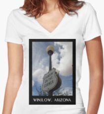 Standin' On The Corner Women's Fitted V-Neck T-Shirt