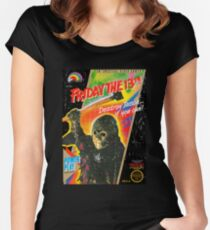 NES Friday the 13th Distressed Cover Women's Fitted Scoop T-Shirt