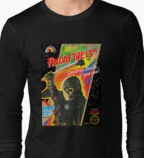 NES Friday the 13th Distressed Cover Long Sleeve T-Shirt
