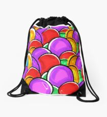 Colorful Easter Eggs Drawstring Bag