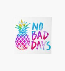 No Bad Days (tie dye) Art Board