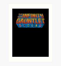 Infinity Gauntlet - Classic Title - Dirty Art Print