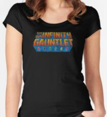 Infinity Gauntlet - Classic Title - Dirty Women's Fitted Scoop T-Shirt