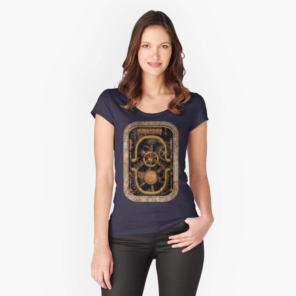 Infernal Steampunk Vintage Machine #1 Fitted Scoop T-Shirt