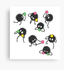 Soot sprites from Spirited away Canvas Print