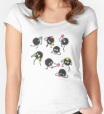 Soot sprites from Spirited away Women's Fitted Scoop T-Shirt