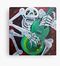 Skeleton Guitarist Metal Print