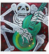 Skeleton Guitarist Poster