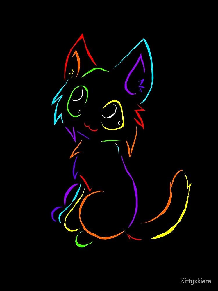 Tribal like cat-Rainbow by Kittyxkiara