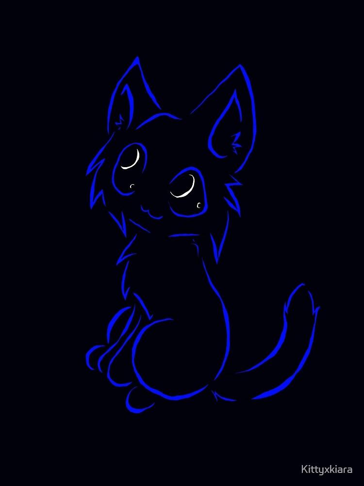 Tribal like cat-Dark Blue by Kittyxkiara