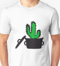 Eat Well saucepan cook desert cactus survive survival hungry Unisex T-Shirt