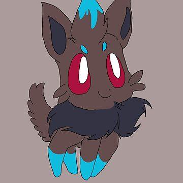 Zorua shiny version by Kittyxkiara