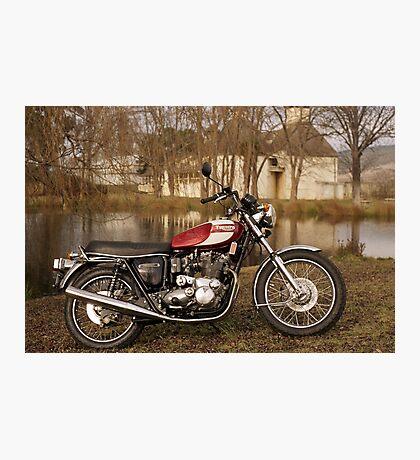 Triumph T160 Trident Photographic Print