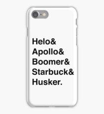 Battlestar Galactica BSG Helvetica Ampersand List iPhone Case/Skin