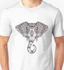 Vintage ornate ethnic elephant with tribal ornaments. Unisex T-Shirt