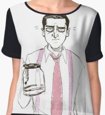 Barba and the empty coffee pot Chiffon Top