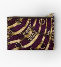 Cheetah Ankara Pattern Swirl-Burgundy  Studio Pouch