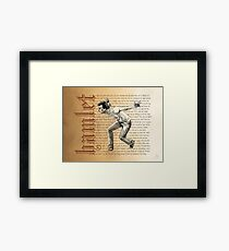 Shakespeare Rogue and Peasant Slave Soliloquy David Tennant Hamlet Framed Print