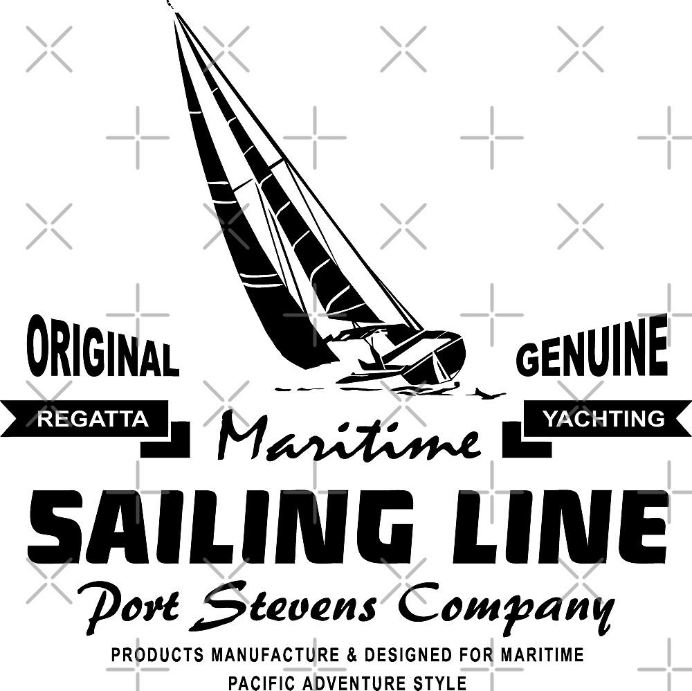 Maritime Sailing Line - Sailingboat by Port-Stevens