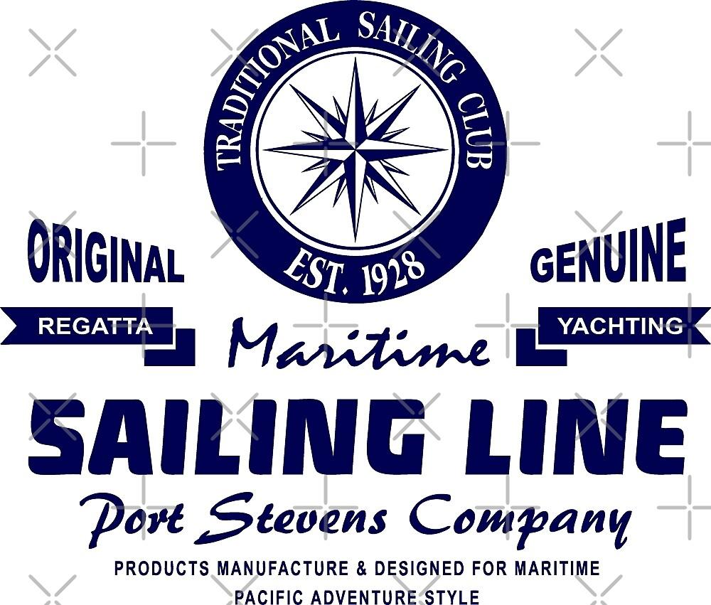 Maritime Sailing Line - Compass by Port-Stevens