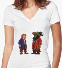 Guybrush & LeChuck (Monkey Island 2) Women's Fitted V-Neck T-Shirt