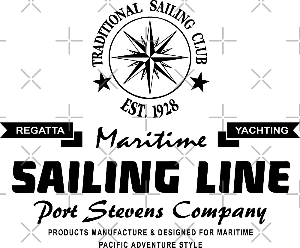 Maritime Sailing Line - Compass by Port-Stevens