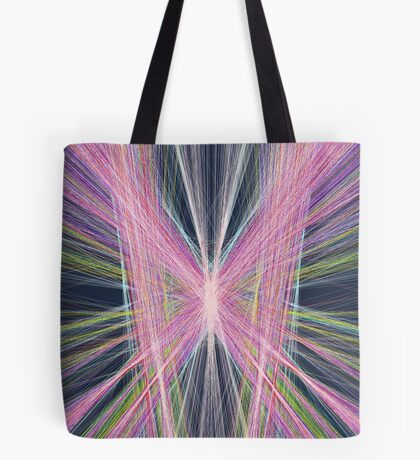 Linify Pink butterfly on dark background Tote Bag