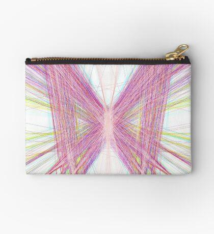 Linify Pink butterfly Zipper Pouch