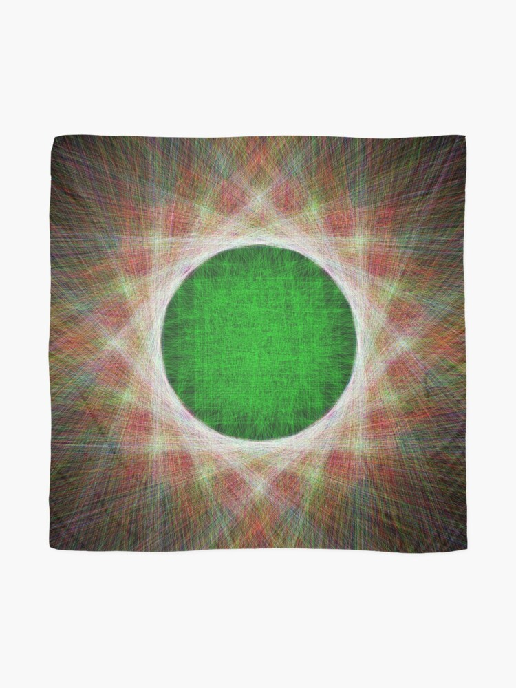 Alternate view of Green Button Planet Scarf